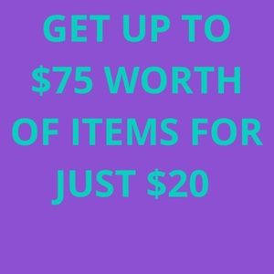 GET UP TO $75 WORTH OF ITEMS ♥️ FOR JUST $20